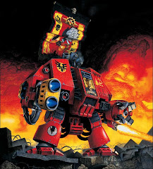 Tycho, venerable dreadnought of the blood angels space marine legion