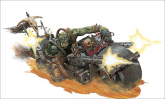 Orks of the 'Cult of Speed' plague the ash wastes of necromunda