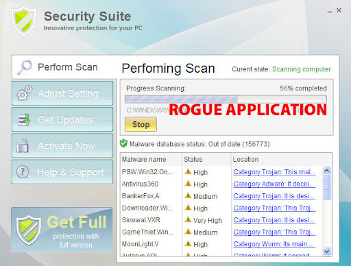 I NEED HELP REMOVING ROUGE ANTI-SPYWARE
