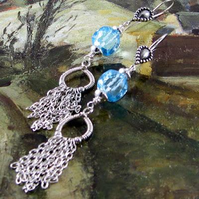 Chain Fringe earrings by Gahooletree/Oracle Gem Designs