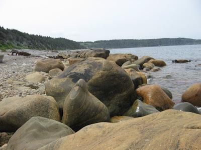 lava boulders along Newfoundland's west coast