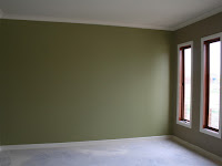 Green Feature Wall Bedroom