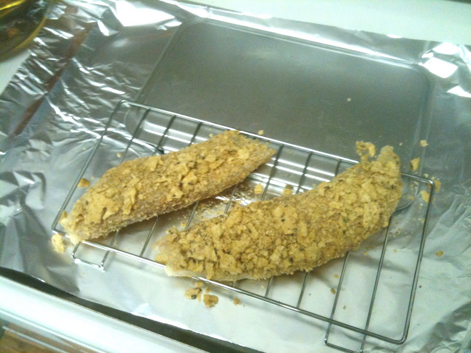 Cooking for one oven fried fish and chips for Fish in oven