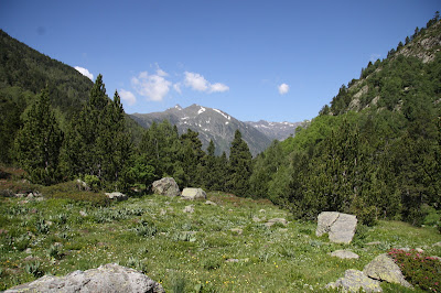 alpine walking in Andorra