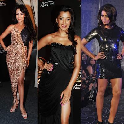 Bipasha, Mugdha, Malaika and Lisa walked on the ramp for Dicitex Furnishing at Novotel