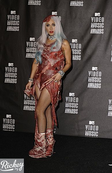 lady gaga meat dress
