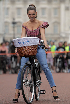 Kelly Brook Riding on Bicycle