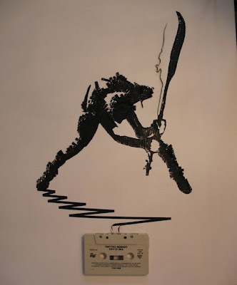 Creative art making by cassette tape