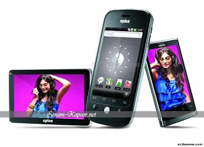 Sonam Kapoor hot photoshoot for Spice Mobiles Ad