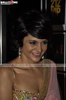 Hot Mandira Bedi in Pink Saree at the launch of 212 VIP perfume