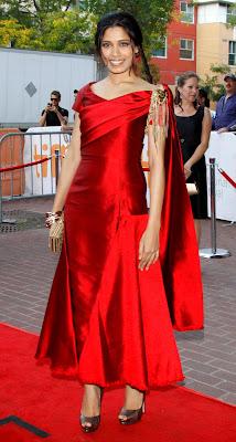 Freida pinto visit @ Miral premiere during 2010 Toronto Intl Film Festival