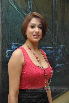Hot Shilpa Saklani in pink and black dress at a Page 3 event