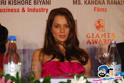 Kangana Ranaut in her Sweet n Huge Cleavage @ GIANTS International Awards