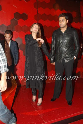 Aishwarya and Abhishek bachchan attended at shabana azmi's 60th birthday bash wallpaper