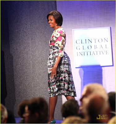 Barack Obama & Michelle Obama Attend CGI 2010 Photos