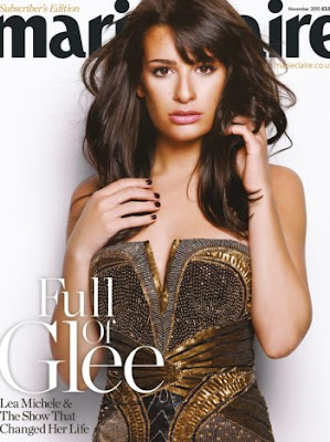 Lea Michele Marie Claire Magazine November 2010 Photos