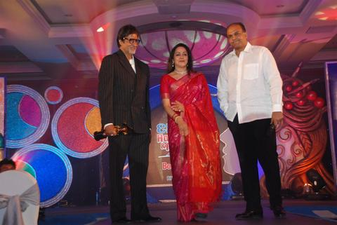 Hema Malini and Amitabh Bachchan at Time Travel award event pictures