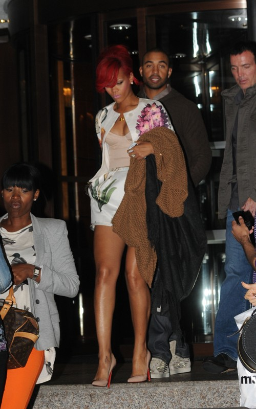 Rihanna Out Greeting Fans in London Photos