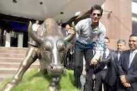 Shahrukh Khan Unveils Eros Media IPO at BSE