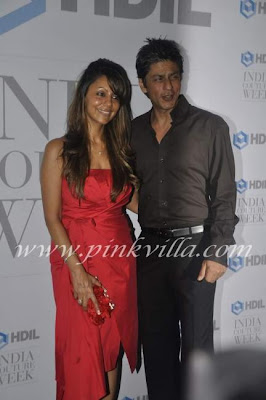 Shahrukh Khan, Gauri and Rani at HDIL opening bash