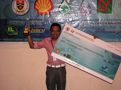 Winner of Technical Presentation NACES 2009