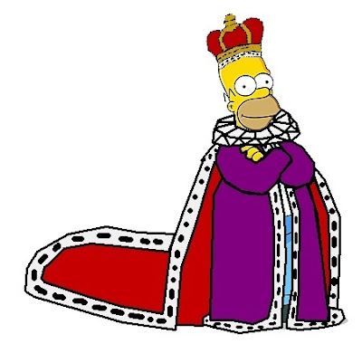Homer Simpsons is the King of the world