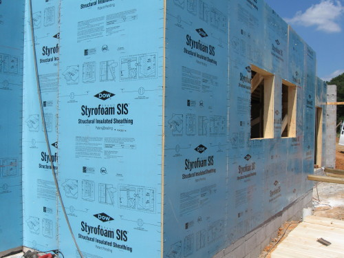 Our green home 135 beech grove trail structural for Green board exterior sheathing