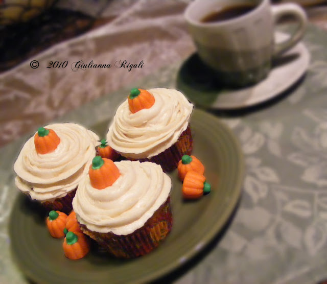 Pumpkin Bars or Cupcakes with Cinnamon Mascarpone / Cream Cheese Frosting Recipe