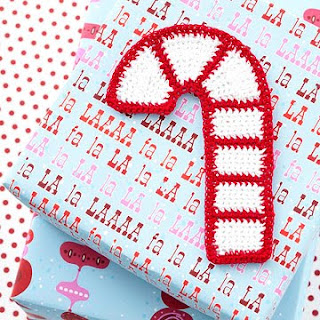 Small Candy Cane Ornament | AllFreeCrochet.com