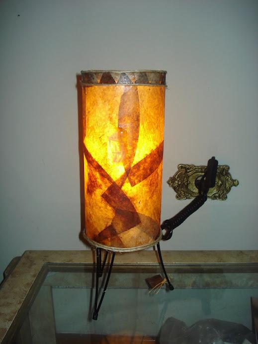 Luminária em coador de café