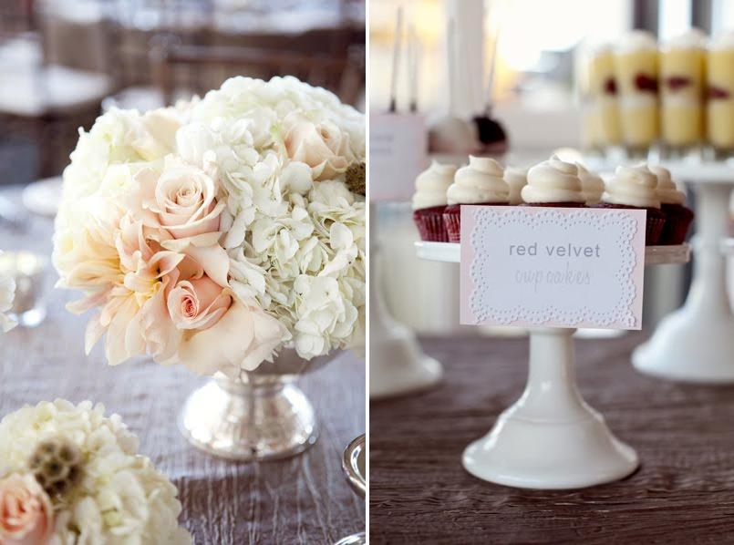 Ortensie Rosa Cipria : Tren di nozze tanti fiori color cipria