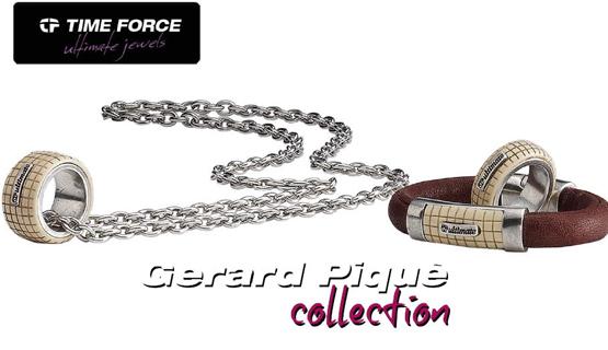 Joyas Gerard Piqué colección Time Force colgante pulsera anillo