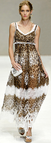 vestido print animal primavera verano Dolce & Gabbana