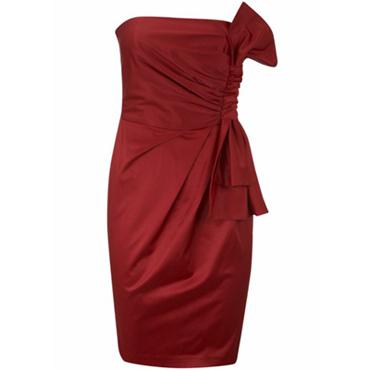 vestido fiesta rojo de Blanco