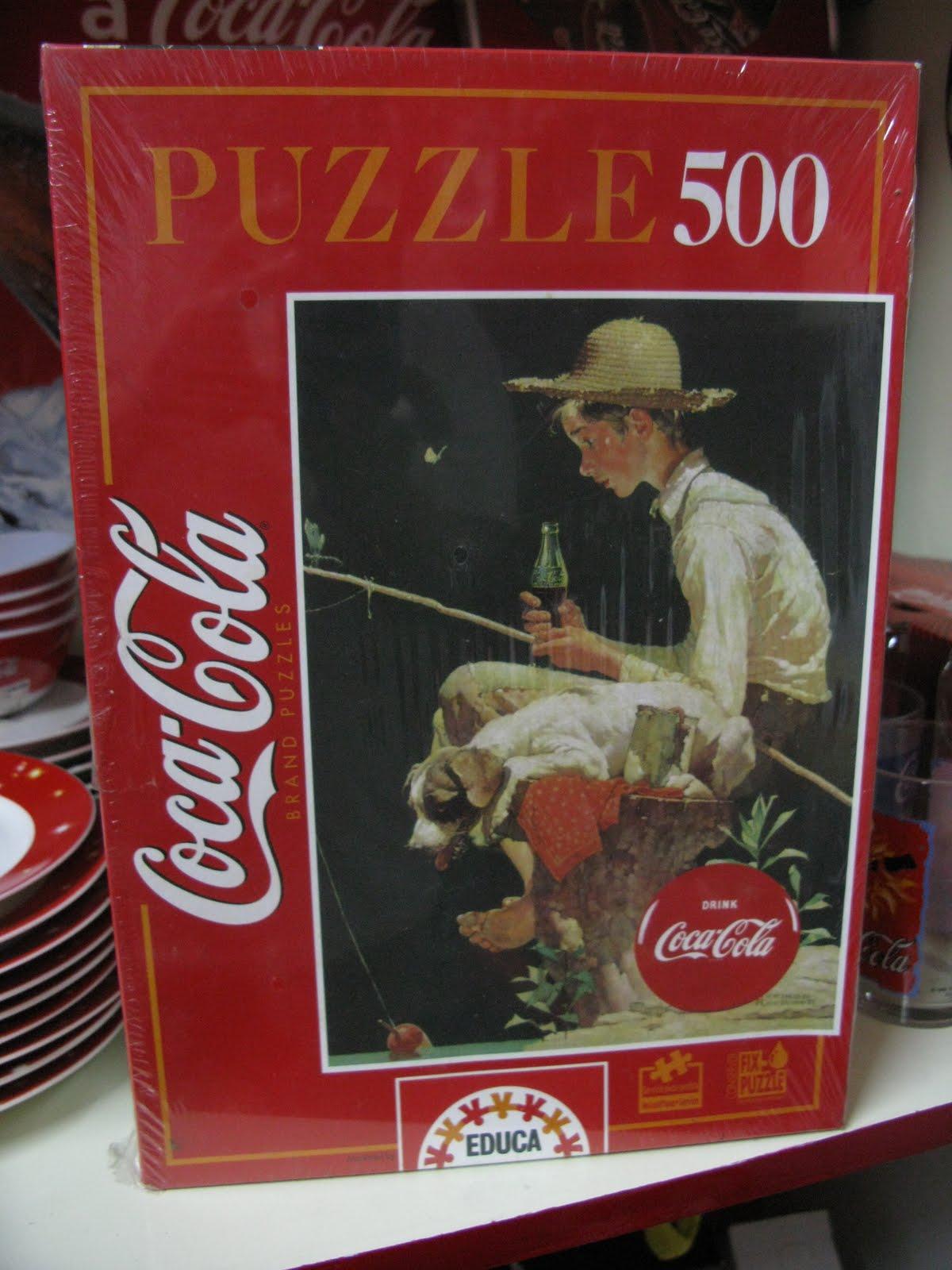 the coca cola collectors coca cola 39 out fishing 39 puzzle. Black Bedroom Furniture Sets. Home Design Ideas