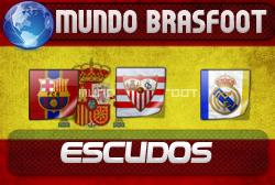 Escudos Stickers Espanha para o Brasfoot 2010