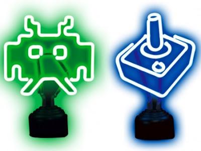 USB Retro Neon Lights - Alien and Joystick