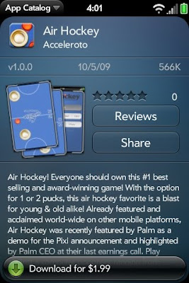Air Hockey Appears First as Paid Apps in webOS App Catalog