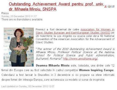 Mihaela Miroiu inspiră Europa