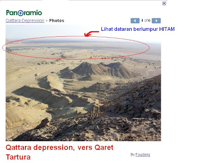 """Lagi bukti imej Qattara Depression adalah """"mata air berlumpur Hitam"""":"""