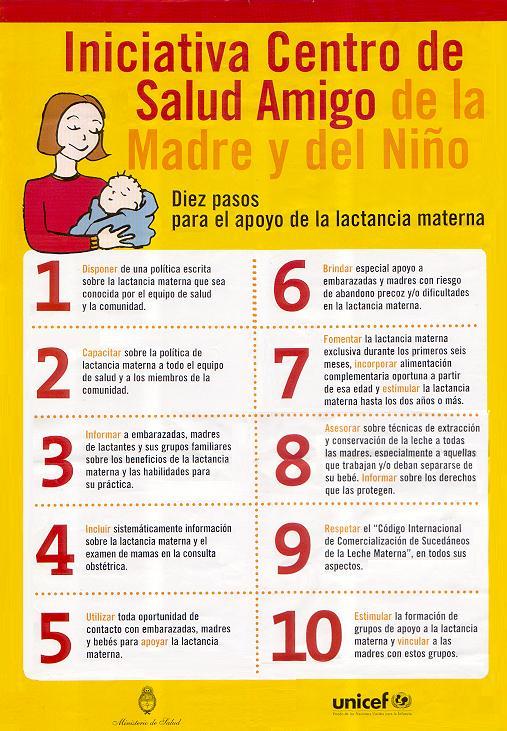 10 paso lactancia materna: