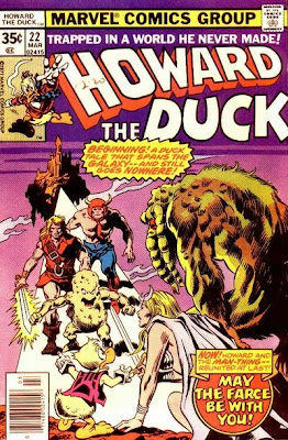 Howard the Duck #22, Man-Thing, May the Farce be with you, cover