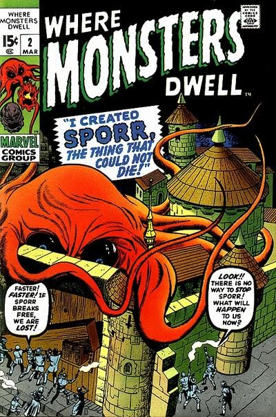 Jack Kirby, Where Monsters Dwell #2, Sporr, the giant amoeba