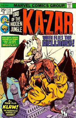 Ka-Zar #15, pteranodon over the streets of London