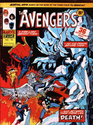 Marvel UK's Avengers #79, spot the difference