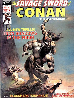 Savage Sword of Conan #4, Iron Shadows in the Moon, Robert E Howard, John Buscema and Alfredo Alcala