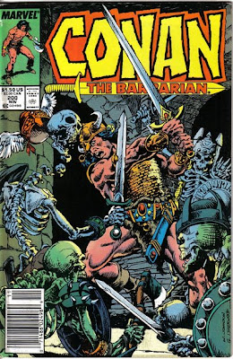 Conan the Barbarian #200, skeletons