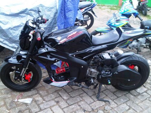 MODIFIKASI YAMAHA MIO BLACK SPORT title=