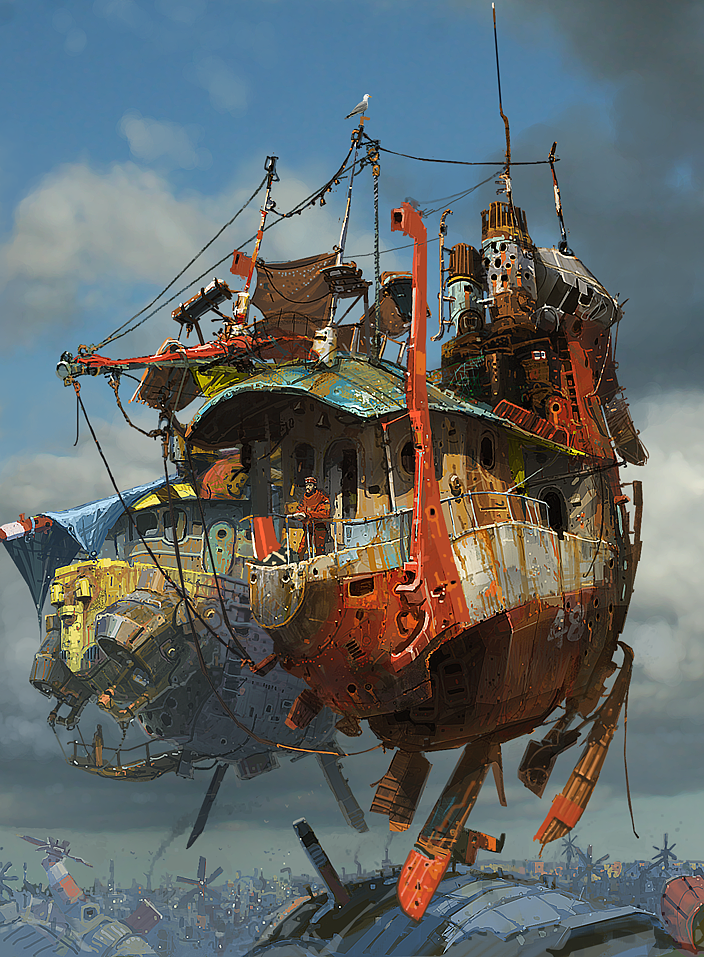 "Ian McQue's Concept Ship ""Sky Harbor"""