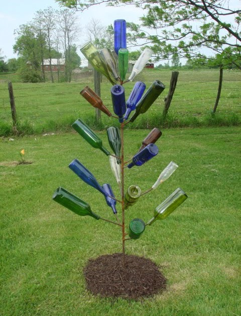 Ed 39 s metal creations bottle tree for How to make a wine tree